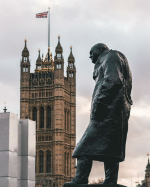 Estatua en Londres de Winston Churchill