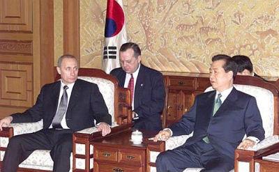 Kim Dae Jung con Vladimir Putin