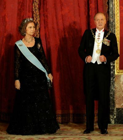 Los Reyes Sofia y Juan Carlos