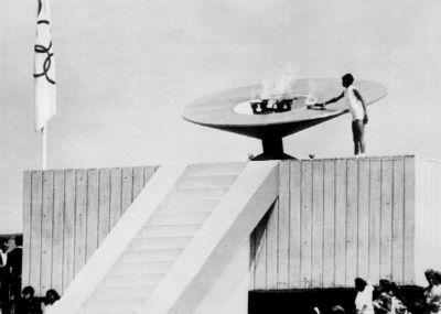 Enriqueta Basilio en los Juegos Olimpicos de Mexico en 1968