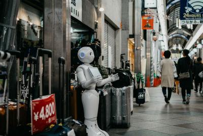 Presencia de robots en el ambito del comercio
