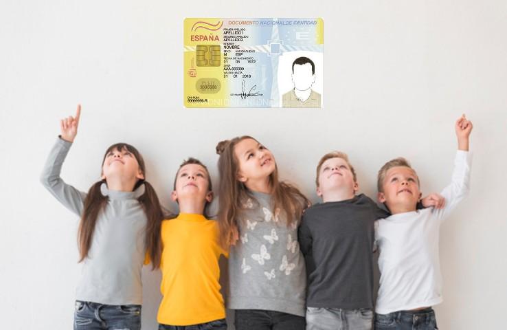Cómo hacer el DNI por primera vez a los niños