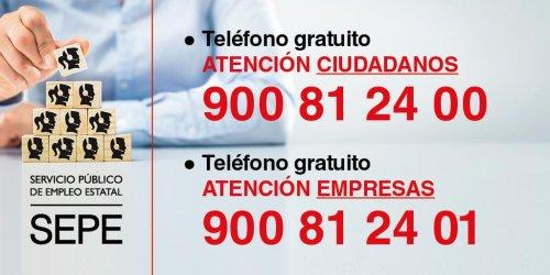 Números telefónicos del SEPE para empresas y particulares